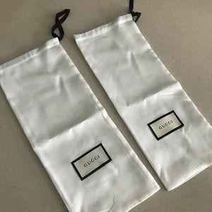Authentic white GUCCI Dust Bag / Pouch 2 pcs